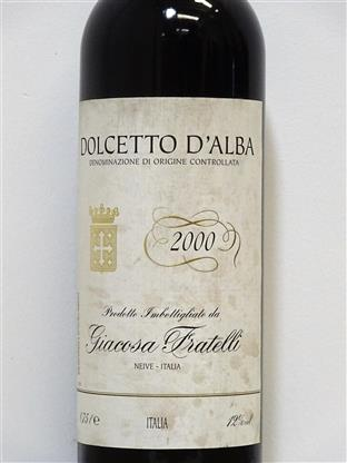 Giacosa Fratelli 2000 Dolcetto