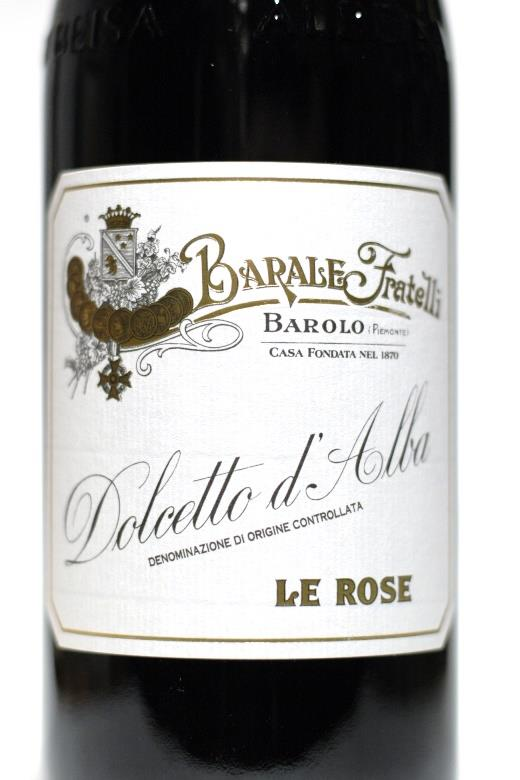 Barale 2017 Dolcetto d'Alba Le Rose