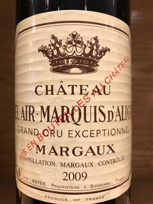 Bel Air-Marquis d'Aligre 2010 Margaux Arrives 11/01/19