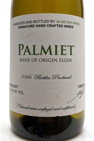 Johan Meyer 2017 South Africa Palmiet Chardonnay